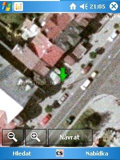satelitní pohled
